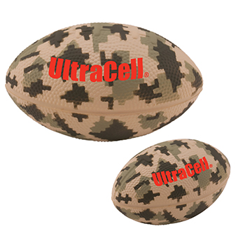 "5"" Camo Football Stress Reliever"