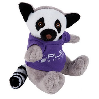 "8"" Lemur With T Shirt, Ribbon, or Bandana"