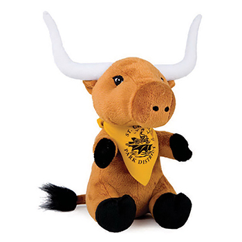 "8"" Longhorn With T Shirt, Ribbon or Bandana"