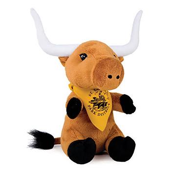 "8"" Longhorn With T Shirt, Ribbon or Bandana"