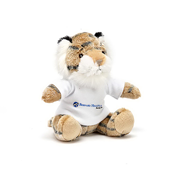"7"" Extra Soft Tiger with T Shirt, Ribbon or Bandana"