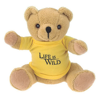 "7"" Extra Soft Brown Bear With T Shirt, Ribbon or Bandana"
