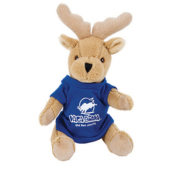 "7"" Moose With T Shirt, Ribbon or Bandana"