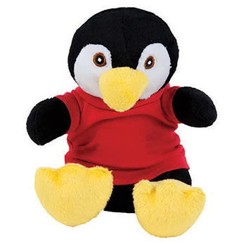 "7"" Extra Soft Penguin with T Shirt, Ribbon or Bandana"