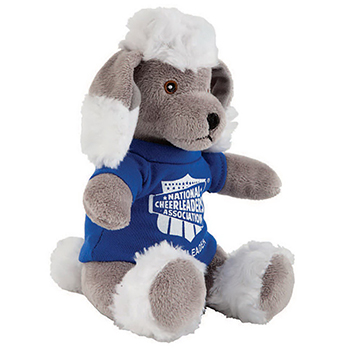 "8"" Poodle With T Shirt, Ribbon or Bandana"