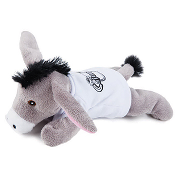 "8"" Extra Soft Donkey With T Shirt, Ribbon or Bandana"