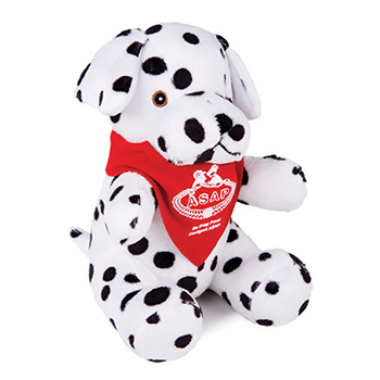 "8"" Dalmatian With T Shirt, Ribbon, or Bandana"