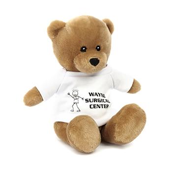 """8"""" Santino Bear With T Shirt, Ribbon, or Bandana"""