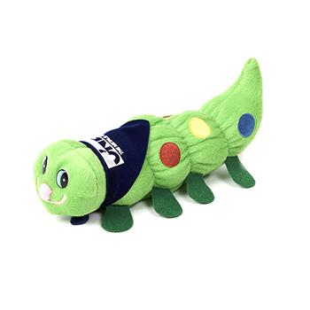 "8"" Beanie Caterpillar With Ribbon or Bandana"