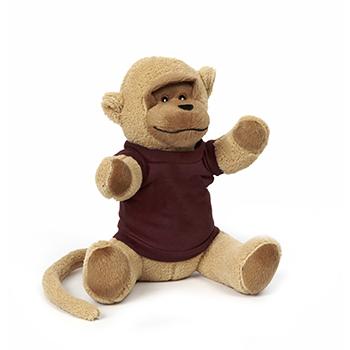 "10"" Soft Plush Monkey With T Shirt, Ribbon or Bandana"
