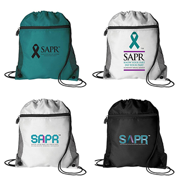 SAPR Mesh Pocket Drawstring Bag