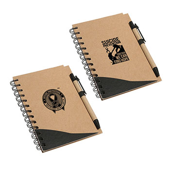 Suicide Prevention Recycled Notebook & Pen