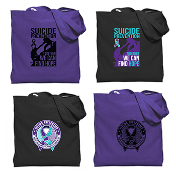 Suicide Prevention Color Gusseted Economy Tote