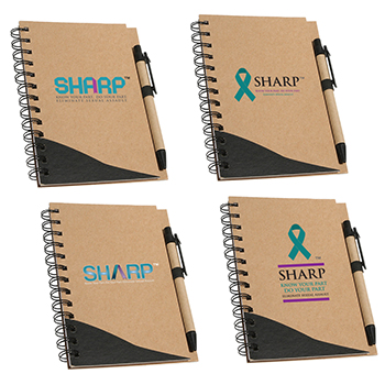 SHARP Recycled Notebook & Pen