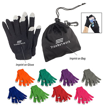 Touch Screen Gloves with Black Pouch