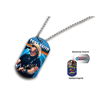 "Full Color Dog Tag With 23 1/2"" Ball Chain"