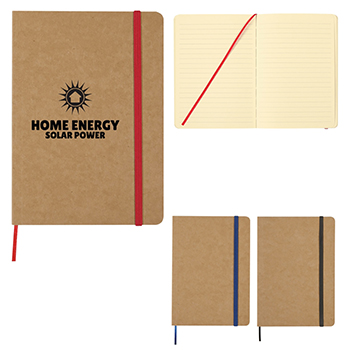 """5"""" x 7"""" Eco Inspired Strap Notebook"""