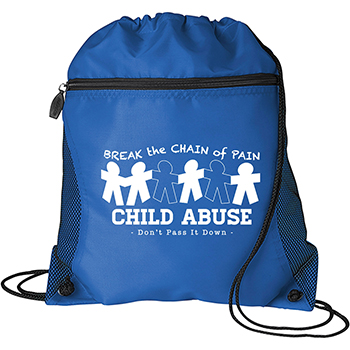 Child Abuse Mesh Pocket Drawcord Bag