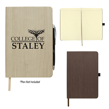 "5"" X 8"" Wood Grain Look Notebook"