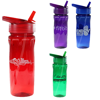 18 oz Poly Saver PET Bottle with Straw Cap