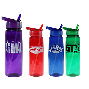 30 oz Poly Saver PET Bottle with Straw Cap