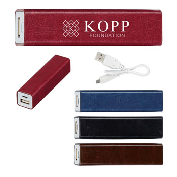 Leatherette Charge N Go Power Bank