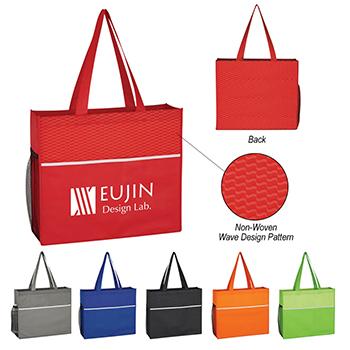 Non Woven Wave Design Tote Bag