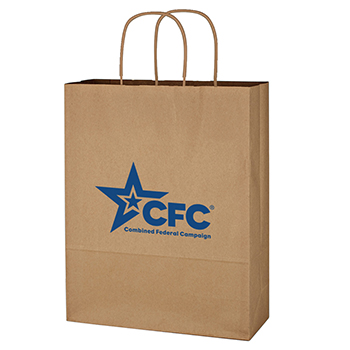 "10"" x 13"" Kraft Brown Paper Shopping Bag"