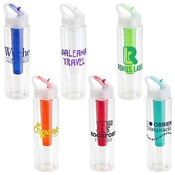 32 oz Trekkar PET Chiller Bottle with Flip Up Lid