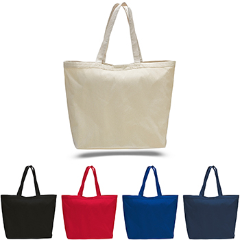 12 oz Jumbo Carry All Canvas Tote With 6 Inch Gusset