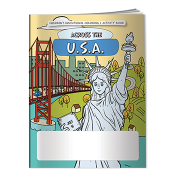 Across the US   US State Capitals Coloring Book