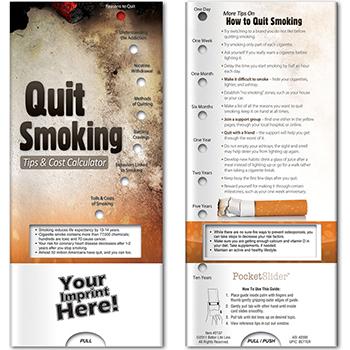 Quit Smoking: Tips & Cost Calculator Pocket Slider