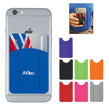 Silicone Phone Wallet With Finger Slot