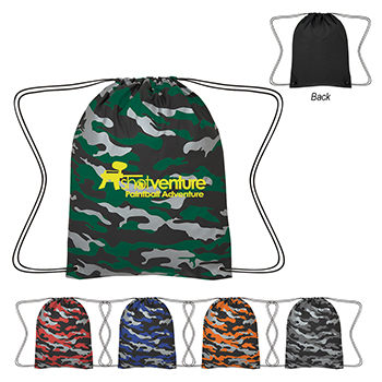 Reflective Camo Drawstring Sport Pack