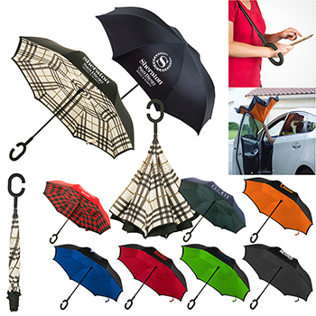 "48"" Arc Stratus Reversible Umbrella"