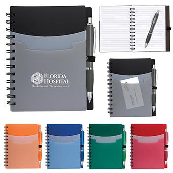 Tri Pocket Notebook & Satin Pen