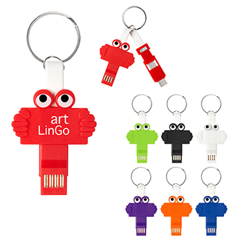Clipster Buddy 3 in 1 Charging Cable Key Ring