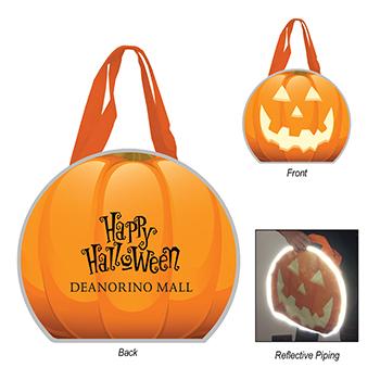Reflective Halloween Pumpkin Non Woven Tote Bag