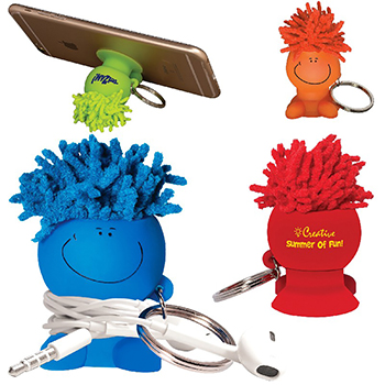 Moptoppers Mobile Stand Cord Winder Key Chain