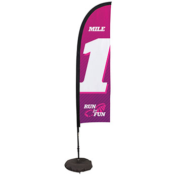 7' Premium Blade Sail Sign Kit With Single Sided Imprint With Scissor Base