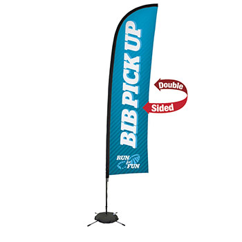 13' Premium Blade Sail Sign Kit With Double Sided Imprint and  Scissor Base