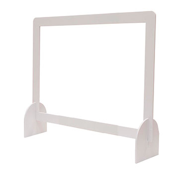 """40"""" x 32"""" Protective Counter Barrier Hardware"""