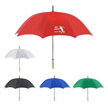 """60"""" Arc Gold Umbrella With 100% rPET Canopy"""