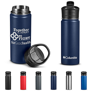 Columbia® 18 oz. Double Wall Vacuum Bottle With Sip Thru Lid