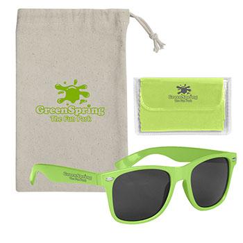 Malibu Sunglasses With Microfiber Cloth And Pouch