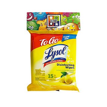 15 Count Lysol On The Go Disinfecting WipesBB