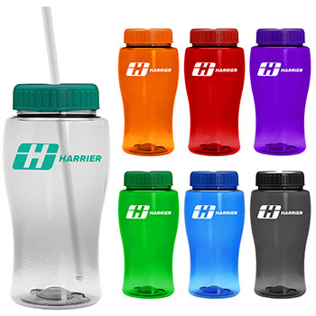 18 oz Poly Pure Jr Bottle With Straw  Lid