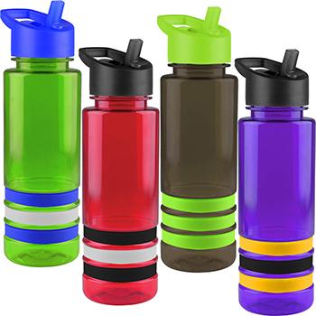 24 oz Tritan Sergeant Bottle With Flip Straw Lid