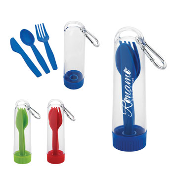 Utensil Kit With Carabiner