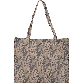 Large Camo Economy Tote Bag